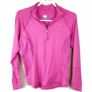 Nike Fit Dry 1/4 Zip Long-sleeve Pull Over